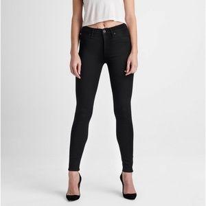 Hudson Black High Waisted Super Skinny Jeans 27
